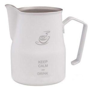 """Питчер Europa """"Keep calm and drink cappucino"""" 750мл белый (МОТТА)"""