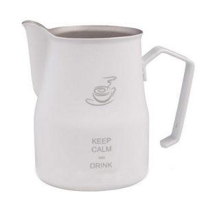 """Питчер Europa """"Keep calm and drink cappucino"""" 500мл белый (МОТТА)"""