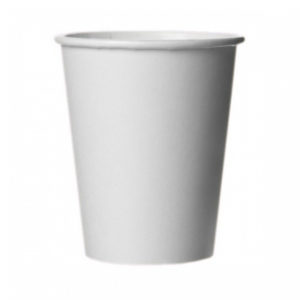 Бумажный белый стакан 340 (320) мл (ПЛОТНЫЙ)