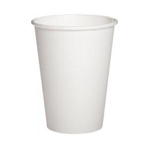 Бумажный белый стакан 340 (320) мл