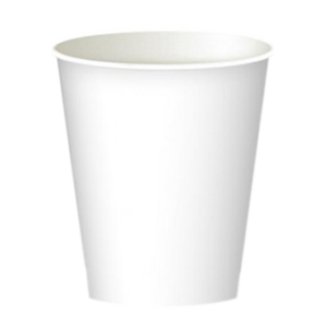 Бумажные стаканчики белые