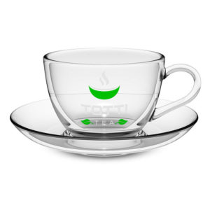 Стеклянная чашка с блюдцем Totti Tea