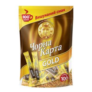 Кофе растворимый Черная Карта Gold в стиках 2г. (100 шт)